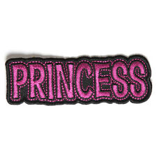 Embroidered Princess Sew or Iron on Patch Biker Patch
