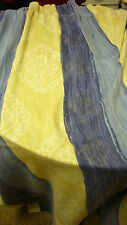 """pair of unlined curtains each one approx 46"""" W by 52"""" D pelmet 13"""" D by 130"""" W"""