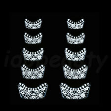 NAIL ART STICKER DECORATIONS WHITE LACE FRENCH TIP DESIGN FOR NAILS