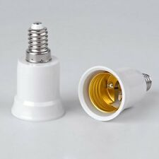 2x E14 auf E27 Lampensockel Adapter LED Lampen Fassung Sockel Adaptersockel