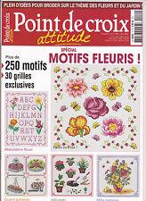 Point De Croix Attitude Special Motifs fleuris N°10 avril - mai - juin 2012
