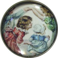 Nursery Rhyme Crystal Dome Button - London Bridge - NR9  FREE US SHIPPING