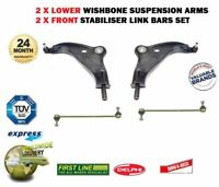 FOR BMW MINI 06> LEFT RIGHT FRONT SUSPENSION WISHBONE ARM + 2x STABILISER LINK