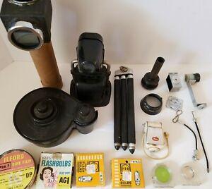 Vintage Lot Camera Photography Accesories; Kodak Day Load Tank, LaSalle Viewer