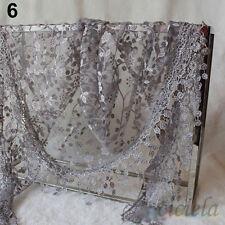 Women Scarf Floral Knit Lace Tassel Shawl Wrap Silk Large Scarves Fashion Gift