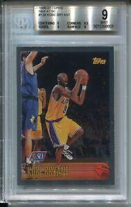 1996 Topps NBA 50 Basketball 138 Kobe Bryant Rookie Card Graded BGS MINT 9