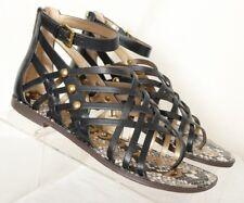 87c3eac0c558 Sam Edelman Gardener Strappy Black Gladiator Toe Loop Sandals Women s US 8M