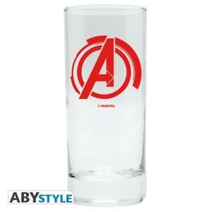 MARVEL AVENGERS Logo Glas Trinkglas Abysse NEU