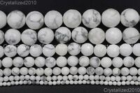 Natural White Turquoise Gemstone Faceted Round Beads 4mm 6mm 8mm 10mm 12mm 15""