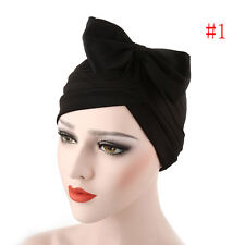 Women Bow Pleated Turban Hat Chemo Cancer Hair Loss Cap Head Wrap Scarf 2017