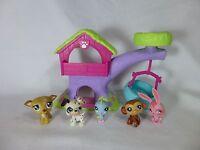 Lot of 5 Littlest Pet Shop Rabbit Dalmatian Monkey Bird LPS Treehouse