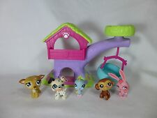 Lot of 5 Littlest Pet Shop Rabbit Dalmatian Monkey Bird LPS Treehouse