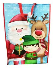 Christmas Shopping Bags Tote Presents Storage Gifts Reusable Grocery Big Shopper