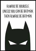 Batman, Prints For Girls, Digital Art Print, Modern Art Print, Definition Poster