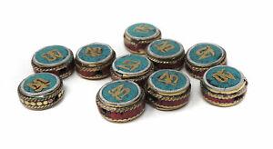 10 Tibetan Beads Inlaid Round Loose SALE WAS $22.00
