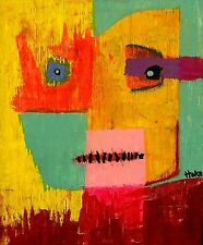 PRINCE OF TOADS Hoke Outsider Painting Abstract Art Brut RAW FOLK nAIVE ORIGINAL