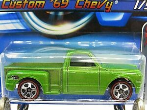 HOT WHEELS VHTF 2006 RED LINES SERIES CUSTOM 69 CHEVY PICKUP