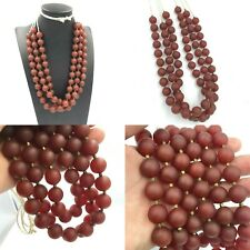 SALE! !!! 3 Strand Antique 12MM Old Carnelian Agate Stone Beads Strand Necklace
