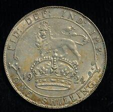 More details for shilling 1924 george v .500 silver (t33)
