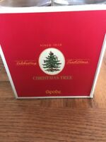 "Set of 4 Spode Christmas Tree 13 oz. Wine Glasses 7 1/4"" NEw"