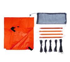 "Ultralight Tarp Shelter Kit Orange 5col Survival Supply Compact Bugout 4'6""x7'"