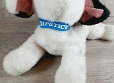 "Vintage 101 Dalmatians Disney DIPSTICK Blue Collar 13"" Laying Plush Puppy Dog"