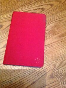 """Samsung Galaxy Tab 2.0 7"""" Case Belkin BiFold Folio with Stand Red Vinyl"""