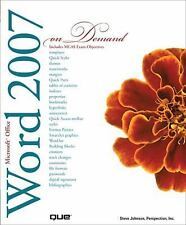 Microsoft Office Word 2007 On Demand