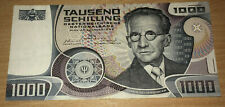 More details for austria: 1000 shillings 1983 in xf+ condition. ats. s 060865 j