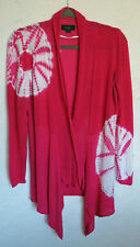 Belldini open Front Embellished Cardigan Size L Cotton Blend Long Sleeve Sequins