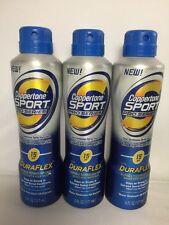 3 x Coppertone Sport Pro Series Spray w/ Duraflex UVA/UVB spf 15 Sunscreen 6 oz