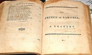1st Ed Of FIRST PLAY WRITTEN & PERFORMED IN USA Prince Of Partha Thomas Godfrey