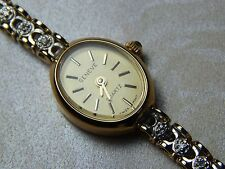 "LADIES ""GENEVE"" 10K  YELLOW GOLD DIAMOND BAND WATCH ~MICHAEL ANTHONY STYLE"