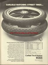 Carlisle Tire & Rubber Motorcycle 1977 Mag Advert #762