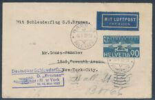 Katapultpost 18./19.5.1932 Zuleitung Schweiz Basel nach New York (S16688)