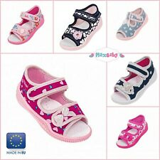 Girls Sandals Summer Shoes Kids Canvas Leather Insole Infant Size 2–8 Toddler