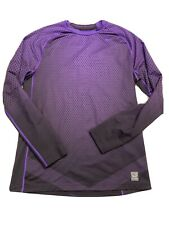 Men's Nike Pro Combat Hyperwarm DriFit Max Shirt Size Large Purple Black Fitted
