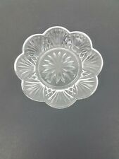 Small Round Clear Design Glass Dish Plate
