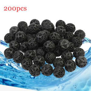 200Pcs Aquarium Fish Tank Filter Bio Ball Balls For Canister Pond Cleaning 16MM