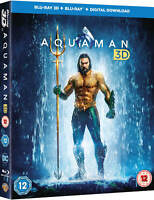 Aquaman available in 3D, Blu-Ray 2 Discs Set with Slipcover Region Free