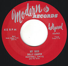 "DOLLY COOPER My Man MODERN 7"" Re. 45 Hot 1955 Rockin Femme Jump R&B Dynamo HEAR"