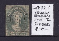 New listing Tasmania: 2d Yellow Green Chalon Sg 32? Wmk 2 Fine Used