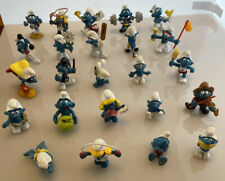Large Collection 24 x Vintage Smurf Figures 1970s 80s RARER MODELS Peyo Schleich