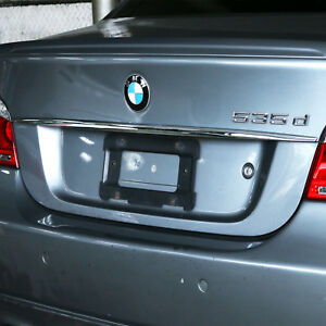 Chrome Rear Trunk Lid Moulding Handle Cover For BMW 5 SERIES E60 530i 550i 525i
