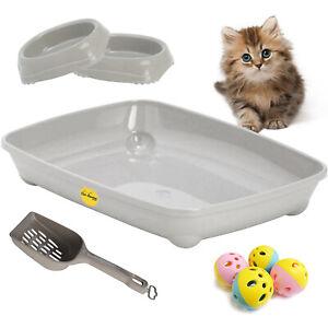 Kitten Starter Pack Set Kit Cat Litter Tray Scoop Bowls Small Balls CatCentre®