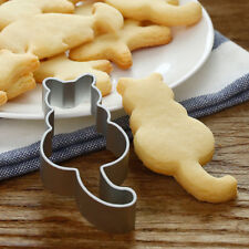 Cat Shaped Aluminium Mold Sugarcraft Cake Cookies Pastry Baking Cutter Mould Hot