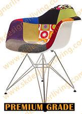 SKDL | Replica Multi-Coloured Fabric Eames DAR Arm Chair | Chrome Legs (V1)