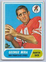 1968  GEORGE MIRA - Topps Football Card # 9 - SAN FRANCISCO 49ERS