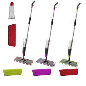 Spray Floor Mop Water Spraying Floor Cleaner Includes 1 Microfibre Pad