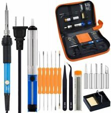 60W 110V/220V Electric Soldering Iron Kit with Adjustable Temperature Welding